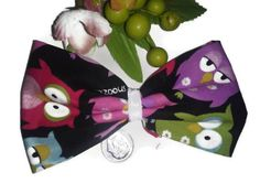 Large Owl Bow colorful hairbows rainbow bows owl by bowsngifts, $3.75