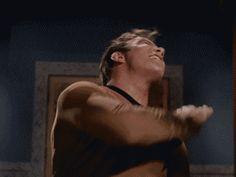Trending GIF funny movies star trek slapping william shatner slaps hitting self slapping self Star Trek Gif, Star Wars, Science Fiction, Star Trek Original Series, Roman, Funny Movies, Funny Gifs, Hilarious, Starship Enterprise