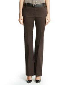 "Sateen modern pant.  . Unlined . Faux back welt pockets . Front pockets with pocket bag . Center front zipper closure . 34"" . Dry clean . Imported . Style Code: 10497120"