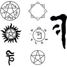 "Supernatural Symbol's sticker pack"" by Winkham | Redbubble"