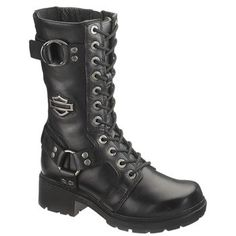 """Harley-Davidson Women's Eda 9"""" Lace-Up Motorcycle Boots"""