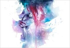 Memory by Agnes Cecile  Prints available at Eyes On Walls  http://www.eyesonwalls.com/collections/agnes-cecile/products/memory-fine-art-print#  #art