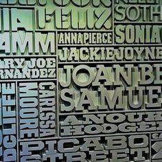 Lovely Type Wall @Nikesh Arora London.