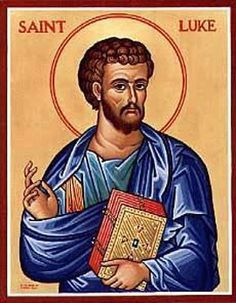 Find inspirational Catholic gifts and saint icons, like this St. Luke Icon, when you visit Monastery Icons. Religious Images, Religious Icons, Religious Art, Catholic Saints, Patron Saints, Catholic Art, São Lucas Evangelista, Monastery Icons, St John The Evangelist