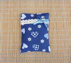 Duftkissen & -säckchen - Lavendelkissen, Blau mit Herzen und Blümchen - ein Designerstück von KreaLavenda bei DaWanda