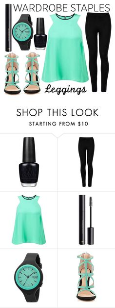 """""""leggings"""" by j-n-a ❤ liked on Polyvore featuring OPI, Wolford, Miss Selfridge, H&M, Rip Curl, ALDO, Leggings and WardrobeStaples"""