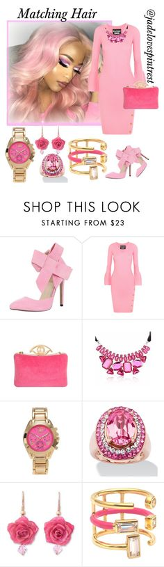 """Pretty In Pink"" by jadelovespintrest ❤ liked on Polyvore featuring Boutique Moschino, Journee Collection, NOVICA and Elizabeth and James"