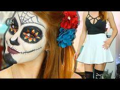 DIY ♥ Halloween Makeup&Look ♥ Caveira Mexicana Halloween 2018, Halloween Diy, Mexican Skulls, Halloween Makeup Looks, Instagram, Costumes, Fiestas, Tips, Mexican