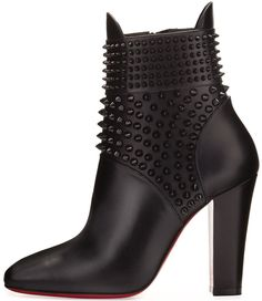 Christian Louboutin 'Praguoise' Studded Red Sole Ankle Boots