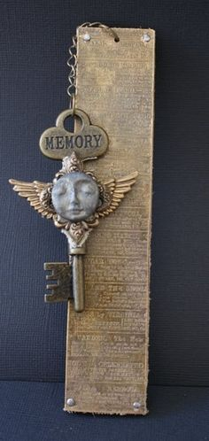 Great idea for a gift bookmark.  Love the vintage look.