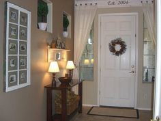 Curtain idea for side light windows. It's the little things that make a house a home...: Have You Ever?