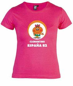 Camiseta Clementina. Camiseta de Clementina, la novia de Naranjito en el mundial de fútbol de España del 82.