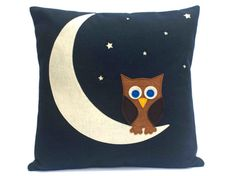 Throw Pillow Cover  Little Owl Made it  to The by DancingArethusa, $60.00