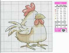 The farm cross stitch 2 hen