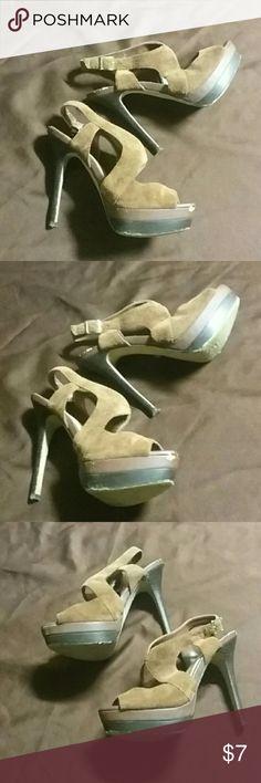 Jessica Simpson suede heels Soft brown suede strappy Jessica Simpson heels Jessica Simpson Shoes Heels