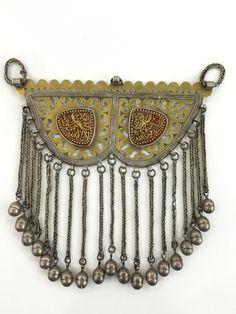 Turkmenistan Traditional Tribal (Tekke) Silver Necklace