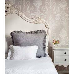 Olivia Grey Cushion | Bedroom Cushion