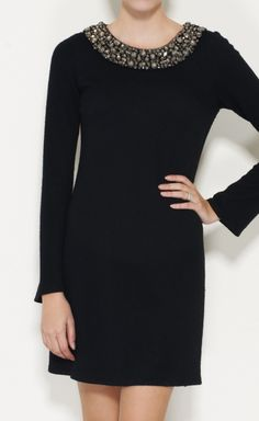 Vera Wang Black And Crystal Dress