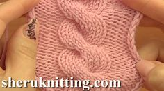 Front Cross Cable Stitch Pattern C8F Knitting Tutorial 12 Easy Cable Pat...