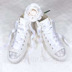 f41f5ad65095 Say I Do ♥ 👰🏻 in Swarovski Crystal Custom Converse! 👰🏻♥