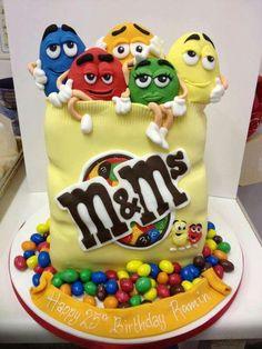 .M AND M cake