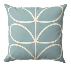 Orla Kiely Cushion | Linear Stem | Duck Egg Blue £36.95 - Living - Orla Kiely Cushions ILLUSTRATED LIVING