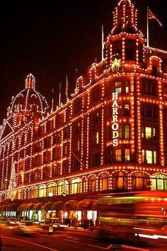 Christmas lights at Harrods