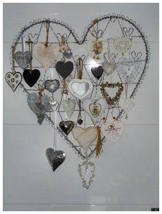 Karin/ Pagina 8van15 Jar Of Hearts, Felt Hearts, I Love Heart, Happy Heart, Bead Bottle, Homemade Art, Heart Crafts, Heart Wall, Heart Decorations