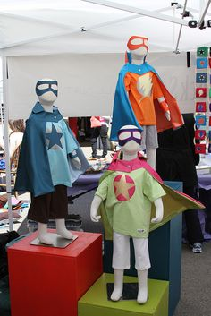What a great way to display super costumes! The SoWa Open Market 2011