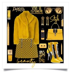 """""""CHECKER STYLE"""" by qstyled ❤ liked on Polyvore featuring Jean-Paul Gaultier, Puma, Gucci, Miu Miu, Yves Saint Laurent, Chanel, Delacruz, Khristian Howell, Too Faced Cosmetics and Philip B"""