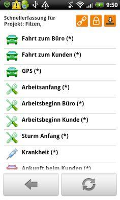 midcom mobile Zeiterfassung Buchungsart festlegen