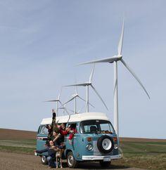 Windmill arms!  Windfarm fun in Dayton, Washington.
