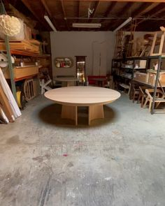 """Godar Furniture on Instagram: """"Sound on! This work in progress for @sddesignstudio is an 86"""" round Wing Table in solid rift white oak that extends an additional 48"""" and…"""" White Oak, Table, Furniture, Home Decor, Decoration Home, Room Decor, Tables, Home Furnishings, Home Interior Design"""