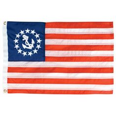 Overton's : 12 x 18 Nylon Printed U.S. Yacht Ensign Flag - Boating & Marine > Flags & Nautical Items > Flags : Boat Flags, Fishing Flags