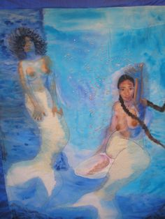 fyblackwomenart:  Water Spirit Healing     by Bianca Dorsey:: Check out our Black Mermaid section HERE! ::