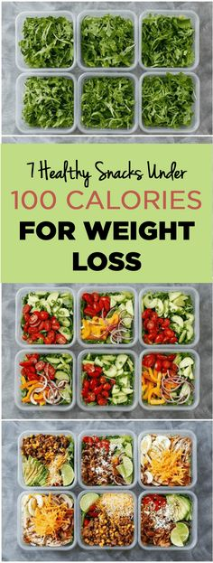 Healthy snacks under 100 calories for easy and fast weight loss