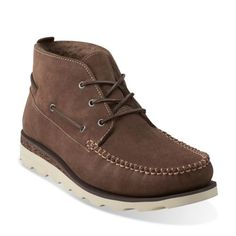 15bb8f125c1 Dakin Deck Mushroom Suede - Clarks Mens Shoes - Lace-ups and Slip-ons