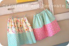 Originate and Renovate: Fat Quarter Skirt