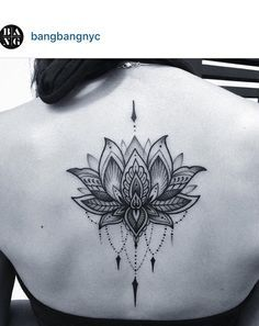 Mandala lotus tattoo. Love this design