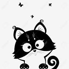 Image result for silhouette  chat dessin