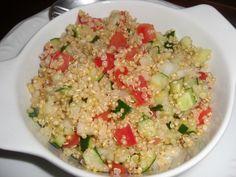 Tabule de quinoa no blog do mel ao dendê