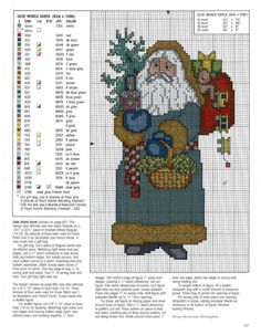 Olde World Santa Santa Cross Stitch, Cross Stitch Christmas Stockings, Cross Stitch Tree, Christmas Cross, Cross Stitch Charts, Cross Stitch Designs, Cross Stitch Patterns, Cross Stitching, Cross Stitch Embroidery