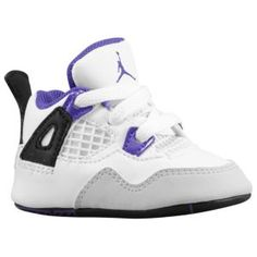 0fb9b9de57636b Jordan Retro 4 - Infants - Basketball - Shoes - White Ultraviolet Black - ·  Baby ...