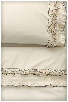Ruffled Sheet Set, Cream $48-$168 - Anthropologie