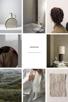 Beautifully curated minimal moodboard in sof Muted tones of classic ecru beige, off white and natural dark grey , featured by My Paradissi # moodboard Instagram Feed Layout, Instagram Design, Mood Instagram, Ig Feed Ideas, Mood And Tone, Color Inspiration, Moodboard Inspiration, Mood Boards, Web Design