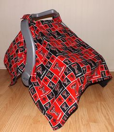 Texas+Tech+Car+Seat+Canopy+by+ProductofHerHands+on+Etsy,+$30.00