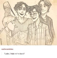 when they finally finished the marauders map!!