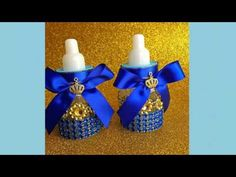 12 small Royal blue Baby shower favors - Little prince blue and gold- royal prince baby shower- royal blue and gold baby shower Baby Shower Azul, Fiesta Baby Shower, Baby Shower Purple, Baby Shower Favors, Baby Shower Cakes, Baby Shower Parties, Baby Shower Themes, Baby Boy Shower, Baby Shower Gifts