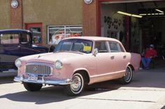 1960 AMC Rambler American 4 door sedan. Festival Rose