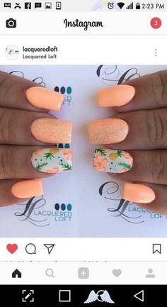 v nails design 68 Ideas nails art summer beach tropical for 2019<br> Shellac Nails, Nails Polish, Toe Nails, Gel Nail, Summer Acrylic Nails, Summer Nails, Spring Nails, Beach Nail Art, Neon Nail Art
